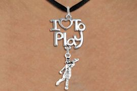"""<br>      WHOLESALE SPORTS FASHION NECKLACE <bR>                    EXCLUSIVELY OURS!!<BR>               AN ALLAN ROBIN DESIGN!!<BR>         CADMIUM, LEAD & NICKEL FREE!!<BR>     W20786N - BEAUTIFUL SILVER TONE <Br>""""I LOVE TO PLAY"""" & DETAILED LADY GOLFER <BR>CHARM NECKLACE FROM $4.64 TO $8.75 �2013"""