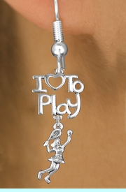 "<br>      WHOLESALE FISH HOOK SPORT EARRINGS <bR>                    EXCLUSIVELY OURS!!<BR>               AN ALLAN ROBIN DESIGN!!<BR>         CADMIUM, LEAD & NICKEL FREE!!<BR> W20800E - BEAUTIFUL SILVER TONE <Br>""I LOVE TO PLAY"" & LADY TENNIS PLAYER <BR>CHARM EARRINGS FROM $6.23 TO $11.75 �2013"