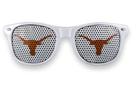 "<BR>OFFICIALLY LICENSED COLLEGIATE ITEM!! <BR> W20813SG - UNIVERSITY OF TEXAS <Br> ""LONGHORNS"" LOGO WHITE SUNGLASSES <br>      YOURS FOR $7.35 EACH �2013"