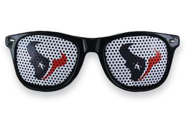 "<BR>OFFICIALLY LICENSED NFL TEAM SHADES!! <BR> W20819SG - THE HOUSTON TEXANS <Br> ""TORO"" LOGO NAVY SUNGLASSES <br>      YOURS FOR $7.35 EACH �2013"