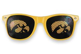 "<BR>OFFICIALLY LICENSED COLLEGIATE ITEM!! <BR>W20829SG - THE UNIVERSITY OF IOWA<Br> ""HAWKEYES"" LOGO GOLD SUNGLASSES <br>      YOURS FOR $7.35 EACH �2013"