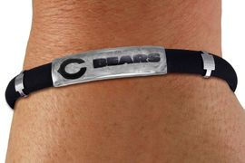 <br>  WHOLESALE NFL TEAM POWER BRACELETS <Br>                  LEAD & NICKEL FREE!!<Br>                OFFICIALLY NFL LICENSED!!<bR>  W20837B - NFL CHICAGO BEARS <BR> ADJUSTABLE RUBBER POWER BRACELET <Br>             FROM $4.99