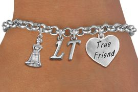 "<BR> WHOLESALE 15TH BIRTHDAY BRACELET <bR>                EXCLUSIVELY OURS!!<Br>               LEAD & NICKEL FREE!!<BR>W20855B - QUINCEA&#209;ERA 15 THEMED <Br>SILVER TONE CHARM BRACELET WITH <BR>CUSTOM INITIALS, QUINCEANERA GIRL <BR>AND ""TRUE FRIEND"" HEART CHARMS <BR>       FROM $5.63 TO $12.50 �2013"