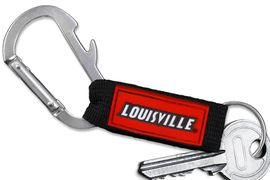 <bR> WHOLESALE SCHOOL TEAM KEYCHAIN <BR>     OFFICIAL COLLEGIATE LICENSED!! <br>             LEAD & NICKEL FREE!!! <br>W20881KC - UNIVERSITY OF LOUISVILLE <BR>  CARABINER WITH BOTTLE OPENER <BR>  AND KEY CHAIN FOR ONLY $3.53 �2013