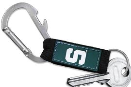 <bR> WHOLESALE SCHOOL TEAM KEYCHAIN <BR>     OFFICIAL COLLEGIATE LICENSED!! <br>             LEAD & NICKEL FREE!!! <br>W20885KC - MICHIGAN STATE UNIVERSITY <BR>  CARABINER WITH BOTTLE OPENER <BR>  AND KEY CHAIN FOR ONLY $3.53 �2013