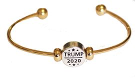 <BR><B>NEW! TRUMP 2020 ADJUSTABLE, TWO-TONE GOLD/SILVER</b><BR> CHARM BRACELET, BALL END SCREW BALL BRACELET, ADD<BR> OR REMOVE CHARMS WITHOUT TOOLS, HYPOALLERGENIC-SAFE. NO NICKEL,<BR> NO LEAD, NO POISONOUS CADMIUM. W196B61  $7.99 EACH