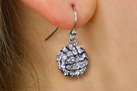<BR>      WHOLESALE VOLLEYBALL JEWELRY<bR>            EXCLUSIVELY OURS!! <BR>       AN ALLAN ROBIN DESIGN!! <BR> CADMIUM, LEAD & NICKEL FREE!! <BR> W21143E - SILVER TONE AND CRYSTAL <Br>  MINI VOLLEYBALL CHARM EARRINGS <BR>     FROM $3.15 TO $7.50 �2013