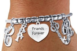 <br>               FABULOUS NEW SORORITY CHARM BRACELET. <br>             PERSONALIZED IT WITH YOUR CRYSTAL INITIALS     <br>     OR YOUR BIG SISTERS, LITTLE SISTERS, OR AN ALUMS<br>      NAME. ADD YOUR SORORITIES GREEK LETTERS, YOUR<br> SORORITIES MASCOT, THE HEART CHARM THAT YOU WANT. <br>   LEAD, NICKLE, AND  CADMIUM FREE, EXCLUSIVELY OURS,<br> AN ALLAN ROBIN DESIGN.  W21367B  ONLY $24.68   �2014