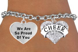 <BR>                                                        CHEER CHARM BRACELET <bR>                     W21384B - THE NEW WAY TO EXPRESS LOVE, MOTIVATION, <BR>                   AND POSITIVE, AFFIRMATIVE EXPRESSIONS.CHARM BRACELET   <BR>                                                               $10.38 EACH &#169;2014