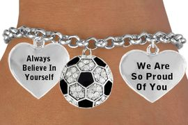 <BR>                               SOCCER BALL CHARM BRACELET WHOLESALE <bR>                 W21410B - THE NEW WAY TO EXPRESS LOVE, MOTIVATION,<BR>          POSITIVE, AFFIRMATIVE EXPRESSIONS, THAT WILL GO PERFECTLY<br>        WITH ANOTHER POSITIVE AFFIRMATION CHARM IF YOU WANT  ONE,<BR>   MORE CHOICES LOOK BELOW,  CHARM BRACELET FROM $9.73 TO $14.58<BR>                                    CostumeJewelryWholesale.com �2014