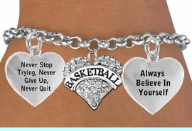 """<BR>                 GENUINE CRYSTAL HEART WITH ENGRAVED """" BASKETBALL """" <BR>                                  ADJUSTABLE CHARM BRACELET WHOLESALE <bR>                 W21419B - THE NEW WAY TO EXPRESS LOVE, MOTIVATION,<BR>          POSITIVE, AFFIRMATIVE EXPRESSIONS, THAT WILL GO PERFECTLY<br>        WITH ANOTHER POSITIVE AFFIRMATION CHARM IF YOU WANT  ONE,<BR>   MORE CHOICES LOOK BELOW,  CHARM BRACELET FROM $9.73 TO $14.58<BR>                                    CostumeJewelryWholesale.com �2014"""