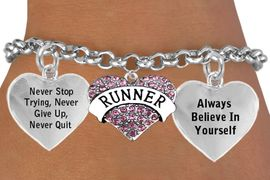 <BR>           BEAUTIFUL PINK RUNNER HEART CHARM BRACELET WHOLESALE <bR>                 W21440B - THE NEW WAY TO EXPRESS LOVE, MOTIVATION,<BR>          POSITIVE, AFFIRMATIVE EXPRESSIONS, THAT WILL GO PERFECTLY<br>        WITH ANOTHER POSITIVE AFFIRMATION CHARM IF YOU WANT  ONE,<BR>   MORE CHOICES LOOK BELOW,  CHARM BRACELET FROM $9.73 TO $14.58<BR>                                    CostumeJewelryWholesale.com �2014