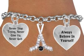 <BR>        BEAUTIFUL CRYSTAL ICE HOCKEY STICKS & PUCK CHARM BRACELET WHOLESALE <bR>                 W21443B - THE NEW WAY TO EXPRESS LOVE, MOTIVATION,<BR>          POSITIVE, AFFIRMATIVE EXPRESSIONS, THAT WILL GO PERFECTLY<br>        WITH ANOTHER POSITIVE AFFIRMATION CHARM IF YOU WANT  ONE,<BR>                  MORE CHOICES LOOK BELOW, CHARM BRACELET  $11.38<BR>                                    CostumeJewelryWholesale.com �2014