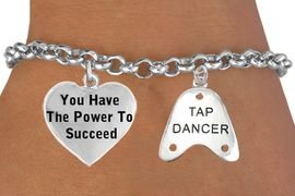 """<BR>                    BEAUTIFUL """"YOU HAVE THE POWER TO SUCCEED HEART <BR>                  CHARM"""" & """"TAP DANCER"""" CHARM BRACELET WHOLESALE <bR>                 W21458B - THE NEW WAY TO EXPRESS LOVE, MOTIVATION,<BR>          POSITIVE, AFFIRMATIVE EXPRESSIONS, THAT WILL GO PERFECTLY<br>        WITH ANOTHER POSITIVE AFFIRMATION CHARM IF YOU WANT  ONE,<BR>   MORE CHOICES LOOK BELOW,  CHARM BRACELET FROM $9.73 TO $14.58<BR>                                    CostumeJewelryWholesale.com �2014"""