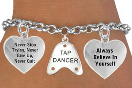 "<BR>                 BEAUTIFUL ""TAP DANCER"" CHARM BRACELET WHOLESALE <bR>                 W21459B - THE NEW WAY TO EXPRESS LOVE, MOTIVATION,<BR>          POSITIVE, AFFIRMATIVE EXPRESSIONS, THAT WILL GO PERFECTLY<br>        WITH ANOTHER POSITIVE AFFIRMATION CHARM IF YOU WANT  ONE,<BR>   MORE CHOICES LOOK BELOW,  CHARM BRACELET FROM $9.73 TO $14.58<BR>                                    CostumeJewelryWholesale.com �2014"