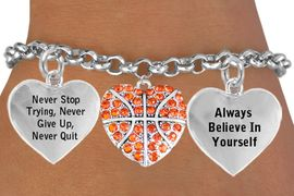 "<BR>                           GENUINE ""CRYSTAL HEART SHAPED BASKETBALL "" <BR>                                  ADJUSTABLE CHARM BRACELET WHOLESALE <bR>                 W21494B - THE NEW WAY TO EXPRESS LOVE, MOTIVATION,<BR>          POSITIVE, AFFIRMATIVE EXPRESSIONS, THAT WILL GO PERFECTLY<br>        WITH ANOTHER POSITIVE AFFIRMATION CHARM IF YOU WANT  ONE,<BR>   MORE CHOICES LOOK BELOW,  CHARM BRACELET FROM $9.73 TO $14.58<BR>                                    CostumeJewelryWholesale.com �2014"