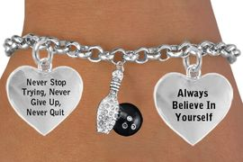 """<BR>GENUINE """"BOWLING PIN & BALL"""" ADJUSTABLE CHARM BRACELET WHOLESALE <bR>                    W21496B - THE NEW WAY TO EXPRESS LOVE, MOTIVATION,<BR>             POSITIVE, AFFIRMATIVE EXPRESSIONS, THAT WILL GO PERFECTLY<br>           WITH ANOTHER POSITIVE AFFIRMATION CHARM IF YOU WANT  ONE,<BR>      MORE CHOICES LOOK BELOW,  CHARM BRACELET FROM $9.73 TO $14.58<BR>                                       CostumeJewelryWholesale.com �2014"""