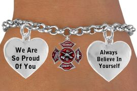 """<BR>                      TWO SIDED """"  FIREFIGHTER MALTESE CROSS """" CHARM<BR>                                 ADJUSTABLE CHARM BRACELET WHOLESALE <bR>                    W21499B - THE NEW WAY TO EXPRESS LOVE, MOTIVATION,<BR>             POSITIVE, AFFIRMATIVE EXPRESSIONS, THAT WILL GO PERFECTLY<br>           WITH ANOTHER POSITIVE AFFIRMATION CHARM IF YOU WANT  ONE,<BR>      MORE CHOICES LOOK BELOW,  CHARM BRACELET FROM $9.73 TO $14.58<BR>                                       CostumeJewelryWholesale.com �2014"""