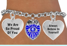 """<BR>                                   GENUINE """" CRYSTAL POLICE BADGE CHARM""""<BR>                                    ADJUSTABLE CHARM BRACELET WHOLESALE <bR>                    W21501B - THE NEW WAY TO EXPRESS LOVE, MOTIVATION,<BR>             POSITIVE, AFFIRMATIVE EXPRESSIONS, THAT WILL GO PERFECTLY<br>           WITH ANOTHER POSITIVE AFFIRMATION CHARM IF YOU WANT  ONE,<BR>      MORE CHOICES LOOK BELOW,  CHARM BRACELET FROM $9.73 TO $14.58<BR>                                       CostumeJewelryWholesale.com �2014"""