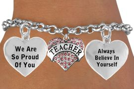 """<BR>                                      GENUINE """" CRYSTAL TEACHER """" CHARM<BR>                                 ADJUSTABLE CHARM BRACELET WHOLESALE <bR>                    W21514B - THE NEW WAY TO EXPRESS LOVE, MOTIVATION,<BR>             POSITIVE, AFFIRMATIVE EXPRESSIONS, THAT WILL GO PERFECTLY<br>           WITH ANOTHER POSITIVE AFFIRMATION CHARM IF YOU WANT  ONE,<BR>      MORE CHOICES LOOK BELOW,  CHARM BRACELET FROM $9.73 TO $14.58<BR>                                       CostumeJewelryWholesale.com �2014"""