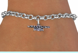 <BR>              WRESTLING MOM ADJUSTABLE CHAIN BRACELET<BR>                  AN ORIGINAL ALLAN ROBIN CUSTOM DESIGN<br>                                WHOLESALE CHARM BRACELET <BR>                              LEAD, CADMIUM & NICKEL FREE!!  <BR>    W21527B-HIGH POLISHED, BRIGHT ANTIQUE SILVER TONE  <BR>            FITS ALL SIZES FROM $4.50 TO $8.35 EACH! &#169;2014