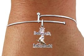 "<BR>"" If I Believe It, I Can Do It! "" ICE SKATING ADJUSTABLE SILVERTONE BRACELET<BR>                            AN ORIGINAL ALLAN ROBIN CUSTOM DESIGN<br>                                          WHOLESALE CHARM BRACELET <BR>                                        LEAD, CADMIUM & NICKEL FREE!!  <BR>              W21548B-HIGH POLISHED, BRIGHT ADJUSTABLE SILVER TONE  <BR>                                BRACELET FROM $4.50 TO $8.35 EACH! &#169;2015"