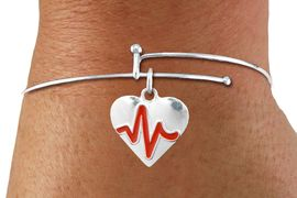"<BR>                                  NICKEL FREE & ADJUSTABLE NECKLACE ! <BR>                                                         ""THE PERFECT GIFT"",<BR>                               ""Your Love Makes My Heart Beat"","" I Love You"", Or<BR>                      In Recognition Of ""Women's Or Children's Heart Disease""<BR>                           "" HEARTBEAT "" ADJUSTABLE FASHION BRACELET<BR>                               AN ORIGINAL  ALLAN ROBIN CUSTOM DESIGN<br>                                          WHOLESALE CHARM BRACELET <BR>                                        LEAD, CADMIUM & NICKEL FREE!!  <BR>                                         W21565B-ADJUSTABLE FASHION  <BR>                             BRACELET FROM $4.90 TO $5.85 EACH! &#169;2015"