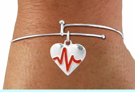 """<BR>                                  NICKEL FREE & ADJUSTABLE NECKLACE ! <BR>                                                         """"THE PERFECT GIFT"""",<BR>                               """"Your Love Makes My Heart Beat"""","""" I Love You"""", Or<BR>                      In Recognition Of """"Women's Or Children's Heart Disease""""<BR>                           """" HEARTBEAT """" ADJUSTABLE FASHION BRACELET<BR>                               AN ORIGINAL  ALLAN ROBIN CUSTOM DESIGN<br>                                          WHOLESALE CHARM BRACELET <BR>                                        LEAD, CADMIUM & NICKEL FREE!!  <BR>                                         W21565B-ADJUSTABLE FASHION  <BR>                             BRACELET FROM $4.90 TO $5.85 EACH! &#169;2015"""