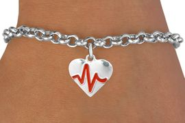 "<BR>                                          NICKEL FREE & ADJUSTABLE BRACELET ! <BR>                                                         ""THE PERFECT GIFT"",<BR>                               ""Your Love Makes My Heart Beat"","" I Love You"", Or<BR>                      In Recognition Of ""Women's Or Children's Heart Disease""<BR>                           "" HEARTBEAT "" ADJUSTABLE LOBSTER CHAIN BRACELET<BR>                               AN ORIGINAL ALLAN ROBIN CUSTOM DESIGN<br>                                          WHOLESALE CHARM BRACELET <BR>                                        LEAD, CADMIUM & NICKEL FREE!!  <BR>                           W21568B-ADJUSTABLE LOBSTER CHAIN SILVER TONE  <BR>                             BRACELET FROM $4.90 TO $5.85 EACH! &#169;2015"