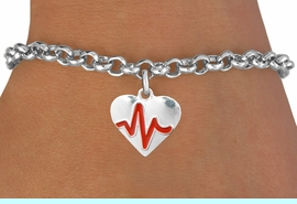 """<BR>                                          NICKEL FREE & ADJUSTABLE BRACELET ! <BR>                                                         """"THE PERFECT GIFT"""",<BR>                               """"Your Love Makes My Heart Beat"""","""" I Love You"""", Or<BR>                      In Recognition Of """"Women's Or Children's Heart Disease""""<BR>                           """" HEARTBEAT """" ADJUSTABLE LOBSTER CHAIN BRACELET<BR>                               AN ORIGINAL ALLAN ROBIN CUSTOM DESIGN<br>                                          WHOLESALE CHARM BRACELET <BR>                                        LEAD, CADMIUM & NICKEL FREE!!  <BR>                           W21568B-ADJUSTABLE LOBSTER CHAIN SILVER TONE  <BR>                             BRACELET FROM $4.90 TO $5.85 EACH! &#169;2015"""