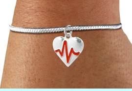 """<BR>                                                                 NICKEL FREE !<BR>                                                         """"THE PERFECT GIFT"""",<BR>                               """"Your Love Makes My Heart Beat"""","""" I Love You"""", Or<BR>                      In Recognition Of """"Women's Or Children's Heart Disease""""<BR>                           """" HEARTBEAT """" ADJUSTABLE SNAKE CHAIN BRACELET<BR>                               AN ORIGINAL ALLAN ROBIN CUSTOM DESIGN<br>                                          WHOLESALE CHARM BRACELET <BR>                                        LEAD, CADMIUM & NICKEL FREE!!  <BR>                           W21569B-ADJUSTABLE SNAKE CHAIN SILVER TONE  <BR>                             BRACELET FROM $4.90 TO $5.85 EACH! &#169;2015"""