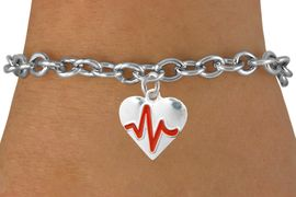 "<BR>                                                         ""THE PERFECT GIFT"",<BR>                               ""Your Love Makes My Heart Beat"","" I Love You"", Or<BR>                      In Recognition Of ""Women's Or Children's Heart Disease""<BR>                       "" HEARTBEAT "" TOGGLE CHAIN FASHION BRACELET<BR>                               AN ORIGINAL ALLAN ROBIN CUSTOM DESIGN<br>                                          WHOLESALE CHARM BRACELET <BR>                                        LEAD, CADMIUM & NICKEL FREE!!  <BR>                                  W21570B-TOGGLE CHAIN SILVER TONE  <BR>                             BRACELET FROM $4.90 TO $5.85 EACH! &#169;2015"