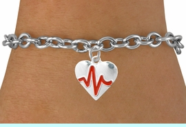 """<BR>                                                         """"THE PERFECT GIFT"""",<BR>                               """"Your Love Makes My Heart Beat"""","""" I Love You"""", Or<BR>                      In Recognition Of """"Women's Or Children's Heart Disease""""<BR>                       """" HEARTBEAT """" TOGGLE CHAIN FASHION BRACELET<BR>                               AN ORIGINAL ALLAN ROBIN CUSTOM DESIGN<br>                                          WHOLESALE CHARM BRACELET <BR>                                        LEAD, CADMIUM & NICKEL FREE!!  <BR>                                  W21570B-TOGGLE CHAIN SILVER TONE  <BR>                             BRACELET FROM $4.90 TO $5.85 EACH! &#169;2015"""