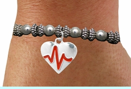 """<BR>                                  NICKEL FREE & ADJUSTABLE BRACELET ! <BR>                                                         """"THE PERFECT GIFT"""",<BR>                               """"Your Love Makes My Heart Beat"""","""" I Love You"""", Or<BR>                      In Recognition Of """"Women's Or Children's Heart Disease""""<BR>                           """" HEARTBEAT """" ADJUSTABLE STRETCH BRACELET<BR>                                AN ORIGINAL ALLAN ROBIN CUSTOM DESIGN<br>                                             WHOLESALE CHARM BRACELET <BR>                                           LEAD, CADMIUM & NICKEL FREE!!  <BR>                                            W21571B-ADJUSTABLE STRETCH <BR>                             BRACELET FROM $4.90 TO $5.85 EACH! &#169;2015"""