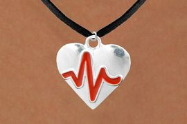 "<BR>                                           NICKEL FREE & ADJUSTABLE NECKLACE ! <BR>                                                         ""THE PERFECT GIFT"",<BR>                               ""Your Love Makes My Heart Beat"","" I Love You"", Or<BR>                      In Recognition Of ""Women's Or Children's Heart Disease""<BR>                     ""HEARTBEAT""  BLACK SUEDE CHAIN ADJUSTABLE NECKLACE<BR>                                     AN ORIGINAL ALLAN ROBIN CUSTOM DESIGN<br>                                                   WHOLESALE CHARM NECKLACE <BR>                                                 LEAD, CADMIUM & NICKEL FREE!!  <BR>                                   W21576N-BLACK SUEDE,  ADJUSTABLE NECKLACE <BR>                                   FITS ALL SIZES FROM $5.60 TO $9.85 EACH! &#169;2015"