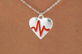 "<BR>                                    NICKEL FREE & ADJUSTABLE NECKLACE ! <BR>                                                         ""THE PERFECT GIFT"",<BR>                               ""Your Love Makes My Heart Beat"","" I Love You"", Or <BR>                      In Recognition Of ""Women's Or Children's Heart Disease""<BR>                           "" HEARTBEAT "" SMALL CHAIN ADJUSTABLE NECKLACE<BR>                                     AN ORIGINAL ALLAN ROBIN CUSTOM DESIGN<br>                                                   WHOLESALE CHARM NECKLACE <BR>                                                 LEAD, CADMIUM & NICKEL FREE!!  <BR>             W21577N-SMALL CHAIN, BRIGHT SILVER TONE ADJUSTABLE NECKLACE <BR>                                   FITS ALL SIZES FROM $5.60 TO $9.85 EACH! &#169;2015"