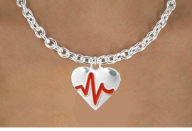 "<BR>                                                              NICKEL FREE !<BR>                                                         ""THE PERFECT GIFT"",<BR>                               ""Your Love Makes My Heart Beat"","" I Love You"", Or<BR>                      In Recognition Of ""Women's Or Children's Heart Disease""<BR>                                        ""HEARTBEAT"" TOGGLE CHAIN NECKLACE<BR>                                     AN ORIGINAL ALLAN ROBIN CUSTOM DESIGN<br>                                                   WHOLESALE CHARM NECKLACE <BR>                                                 LEAD, CADMIUM & NICKEL FREE!!  <BR>                   W21578N-TOGGLE CHAIN, BRIGHT SILVER TONE NECKLACE <BR>                                             FROM $5.60 TO $9.85 EACH! &#169;2015"