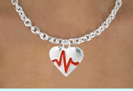 """<BR>                                                              NICKEL FREE !<BR>                                                         """"THE PERFECT GIFT"""",<BR>                               """"Your Love Makes My Heart Beat"""","""" I Love You"""", Or<BR>                      In Recognition Of """"Women's Or Children's Heart Disease""""<BR>                                        """"HEARTBEAT"""" TOGGLE CHAIN NECKLACE<BR>                                     AN ORIGINAL ALLAN ROBIN CUSTOM DESIGN<br>                                                   WHOLESALE CHARM NECKLACE <BR>                                                 LEAD, CADMIUM & NICKEL FREE!!  <BR>                   W21578N-TOGGLE CHAIN, BRIGHT SILVER TONE NECKLACE <BR>                                             FROM $5.60 TO $9.85 EACH! &#169;2015"""
