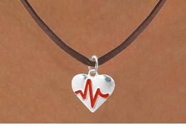 "<BR>                                  NICKEL FREE & ADJUSTABLE NECKLACE ! <BR>                                                         ""THE PERFECT GIFT"",<BR>                               ""Your Love Makes My Heart Beat"","" I Love You"", Or<BR>                      In Recognition Of ""Women's Or Children's Heart Disease""<BR>                            ""HEARTBEAT"" BROWN SUEDE ADJUSTABLE NECKLACE<BR>                                     AN ORIGINAL ALLAN ROBIN CUSTOM DESIGN<br>                                                   WHOLESALE CHARM NECKLACE <BR>                                                 LEAD, CADMIUM & NICKEL FREE!!  <BR>                                W21579N-BROWN SUEDE ADJUSTABLE NECKLACE <BR>                                FITS ALL SIZES FROM $5.60 TO $9.85 EACH! &#169;2015"