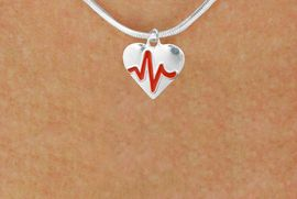 """<BR>                                        NICKEL FREE & ADJUSTABLE NECKLACE ! <BR>                                                         """"THE PERFECT GIFT"""",<BR>                               """"Your Love Makes My Heart Beat"""","""" I Love You"""", Or<BR>                      In Recognition Of """"Women's Or Children's Heart Disease""""<BR>                   """"HEARTBEAT"""" CHARM SNAKE CHAIN ADJUSTABLE NECKLACE<BR>                                     AN ORIGINAL ALLAN ROBIN CUSTOM DESIGN<br>                                                   WHOLESALE CHARM NECKLACE <BR>                                                 LEAD, CADMIUM & NICKEL FREE!!  <BR>             W21580N-SNAKE CHAIN, BRIGHT SILVER TONE ADJUSTABLE NECKLACE <BR>                                   FITS ALL SIZES FROM $5.60 TO $9.85 EACH! &#169;2015"""