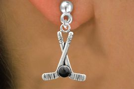 <BR>                            NICKEL FREE !<BR>             WHOLESALE HOCKEY JEWELRY <bR>                    EXCLUSIVELY OURS!! <Br>               AN ALLAN ROBIN DESIGN!! <BR>         LEAD, NICKEL & CADMIUM FREE!! <BR>W21582SE - SILVER TONE HOCKEY STICKS <BR>              AND PUCK CHARM EARRINGS <BR>                              $10.38 �2013