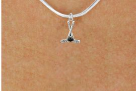 <BR>         NICKEL FREE & ADJUSTABLE NECKLACE ! <BR>WHOLESALE HOCKEY SNAKE CHAIN NECKLACE <bR>                            EXCLUSIVELY OURS!! <Br>                       AN ALLAN ROBIN DESIGN!! <BR>                 LEAD, NICKEL & CADMIUM FREE!! <BR>              W21584N - SILVER TONE HOCKEY STICKS <BR>            AND PUCK CHARM ADJUSTABLE NECKLACE <BR>                                             $9.38 �2015