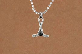 <BR>         NICKEL FREE & ADJUSTABLE NECKLACE ! <BR>WHOLESALE HOCKEY BALL CHAIN NECKLACE <bR>                            EXCLUSIVELY OURS!! <Br>                       AN ALLAN ROBIN DESIGN!! <BR>                 LEAD, NICKEL & CADMIUM FREE!! <BR>              W21585N - SILVER TONE HOCKEY STICKS <BR>            AND PUCK CHARM ADJUSTABLE NECKLACE <BR>                                              $8.38 �2015