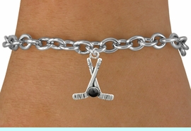 <BR>                                           NICKEL FREE !<BR>    WHOLESALE HOCKEY TOGGLE CHAIN BRACELET <bR>                            EXCLUSIVELY OURS!! <Br>                       AN ALLAN ROBIN DESIGN!! <BR>                 LEAD, NICKEL & CADMIUM FREE!! <BR>              W21590B - SILVER TONE HOCKEY STICKS <BR>    AND PUCK CHARM ON TOGGLE CHAIN BRACELET <BR>                                   $8.38 �2015