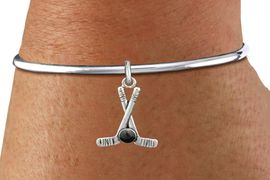 <BR>              NICKEL FREE & ADJUSTABLE BRACELET ! <BR>      WHOLESALE HOCKEY SCREW BALL BRACELET <bR>                            EXCLUSIVELY OURS!! <Br>                       AN ALLAN ROBIN DESIGN!! <BR>                 LEAD, NICKEL & CADMIUM FREE!! <BR>              W21597B - SILVER TONE HOCKEY STICKS <BR>     AND PUCK CHARM ON BALL SCREW BANGLE <BR>                                   $8.38 �2015