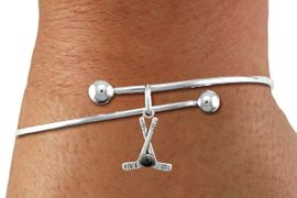 <BR>               NICKEL FREE & ADJUSTABLE BRACELET ! <BR>          WHOLESALE HOCKEY WIRE BALL BRACELET<bR>                                    EXCLUSIVELY OURS!! <Br>                               AN ALLAN ROBIN DESIGN!! <BR>                         LEAD, NICKEL & CADMIUM FREE!! <BR>                      W21598B - SILVER TONE HOCKEY STICKS <BR>         AND PUCK CHARM ON ADJUSTABLE WIRE BRACELET <BR>                                                 $8.38 �2015