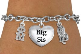 <BR>                                       NICKEL FREE!<br>          W21603B  NEW SORORITY CHARM BRACELET <br>  PERSONALIZE IT WITH YOUR DISTINCT SORORITY'S <br>    SILVER TONE GREEK LETTERS, YOUR SORORITY'S <br>       MASCOT. LEAD, NICKLE, AND  CADMIUM FREE <BR>       EXCLUSIVELY OURS, AN ALLAN ROBIN DESIGN <BR>                  W21603B  ONLY $12.37   �2015