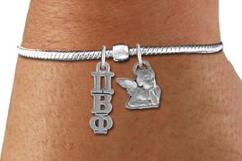 <BR>                         NICKEL FREE AUTHORIZED BRACELET !<BR>W21604B  NEW SORORITY SNAKE CHAIN CHARM BRACELET <br>             ADD YOUR SORORITY'S GREEK LETTERS, YOUR<br>SORORITY'S MASCOT.  LEAD, NICKEL, AND  CADMIUM FREE<BR>             EXCLUSIVELY OURS, AN ALLAN ROBIN DESIGN. <BR>                               W21604B  ONLY $12.61   �2015