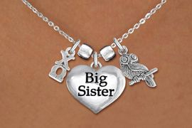 <BR>   NICKEL FREE & ADJUSTABLE AUTHORIZED NECKLACE !<br>          W21606N  NEW SORORITY CHARM NECKLACE <br>  PERSONALIZE IT WITH YOUR DISTINCT SORORITY'S <br>    SILVER TONE GREEK LETTERS, YOUR SORORITY'S <br>       MASCOT. LEAD, NICKLE, AND  CADMIUM FREE <BR>       EXCLUSIVELY OURS, AN ALLAN ROBIN DESIGN <BR>                  W21606N  ONLY $12.37   �2015