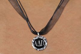 <BR>   NICKEL FREE & ADJUSTABLE NECKLACE !<BR> WHOLESALE FASHION SORORITY JEWELRY <BR>                 EXCLUSIVELY OURS!! <BR>            AN ALLAN ROBIN DESIGN!! <BR>      LEAD, NICKEL & CADMIUM FREE!! <BR>  W21622N - OFFICIAL GREEK SORORITY <BR>      ALPHA DELTA PI DISK CHARM ON <Br>        BLACK SHEER CORDED NECKLACE <BR>           FROM $4.16 TO $9.25 �2015
